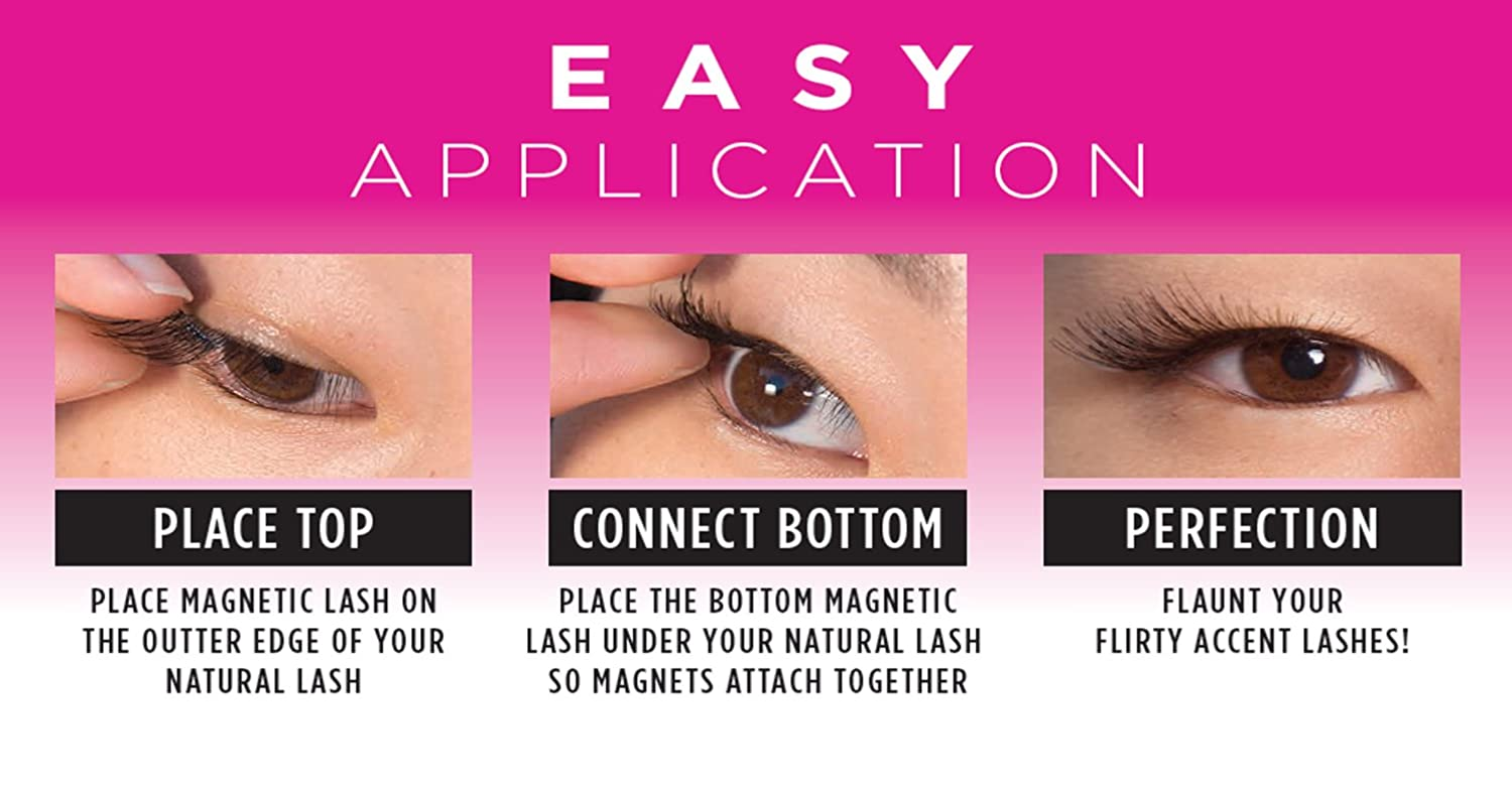 926837db821 Amazon.com : Allstar Innovations - 3 Second Lash Magnetic Eyelash Accents,  Includes 2 Natural, 1 Bold Set of Lashes, As Seen on TV : Beauty