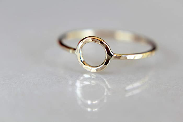 c1103e35b641d Amazon.com: Circle Ring, Stacking Rings, Eternity Rings, Solid Gold ...