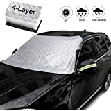 Car Windshield Cover for Ice with Mirror Cover, Snow and Frost with 4 Layers,Wind-Proof Keeps Vehicle Cool Front Window…