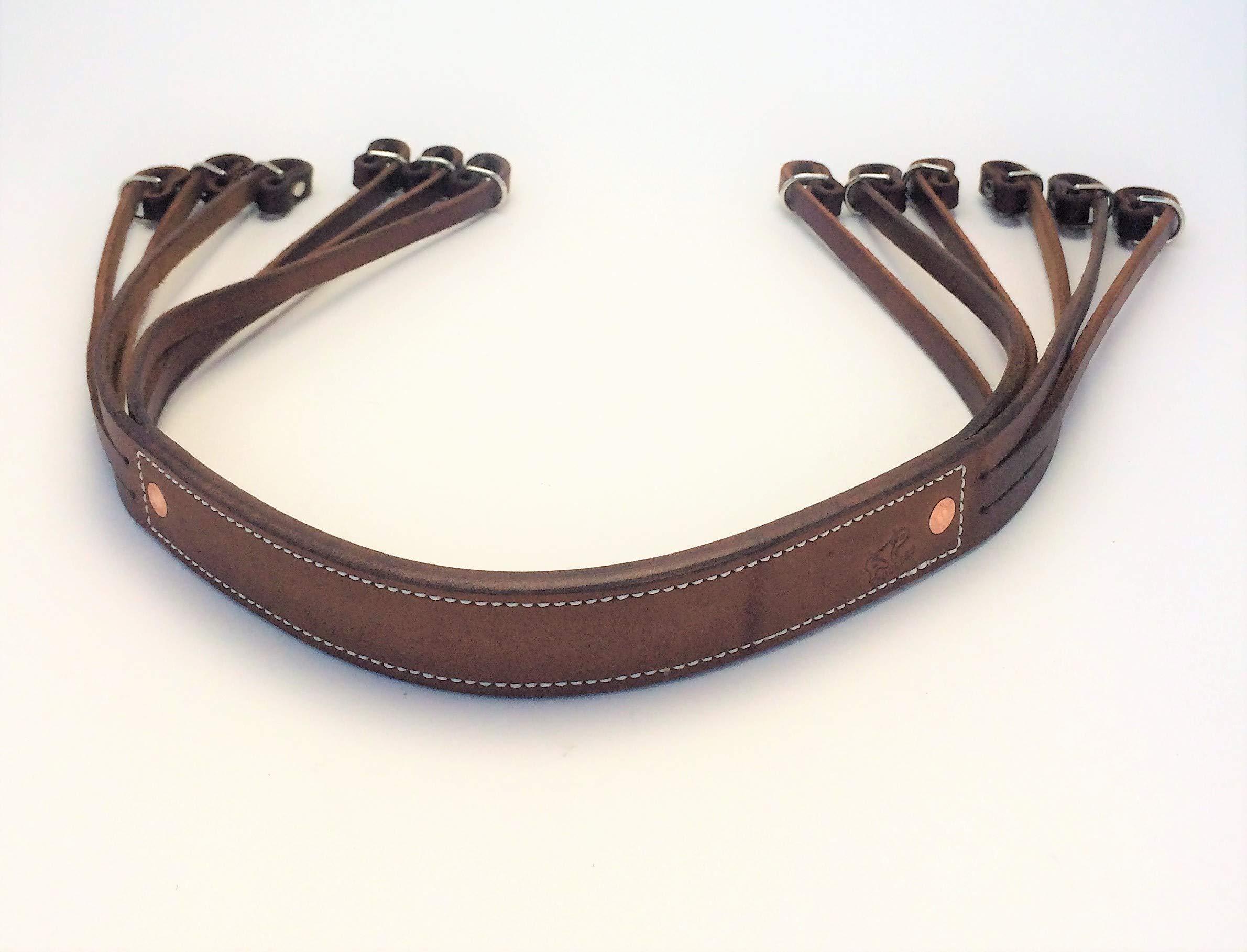 AP Saddlery Low Profile Leather Duck Strap (Dark Brown)