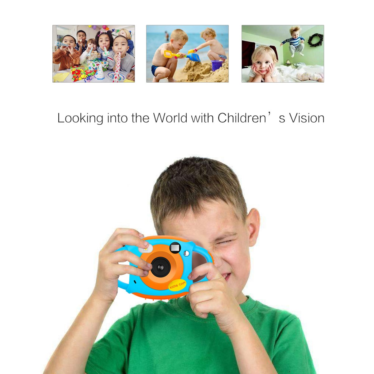 Kids Camera Digital Camera for Kids Digital Video Camera 1.77 HD Color Screen 5 MP Beautiful Camera for Kids by LongOu (Image #7)