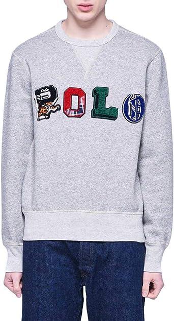 Polo Ralph Lauren Sweat Loft Gris Homme XL Gris: