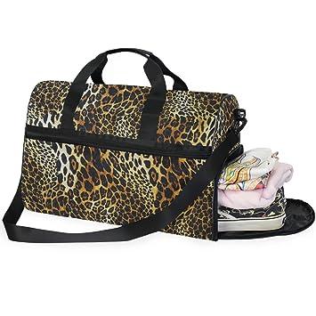 Amazon.com: AHOMY - Bolsa de gimnasio con diseño de leopardo ...