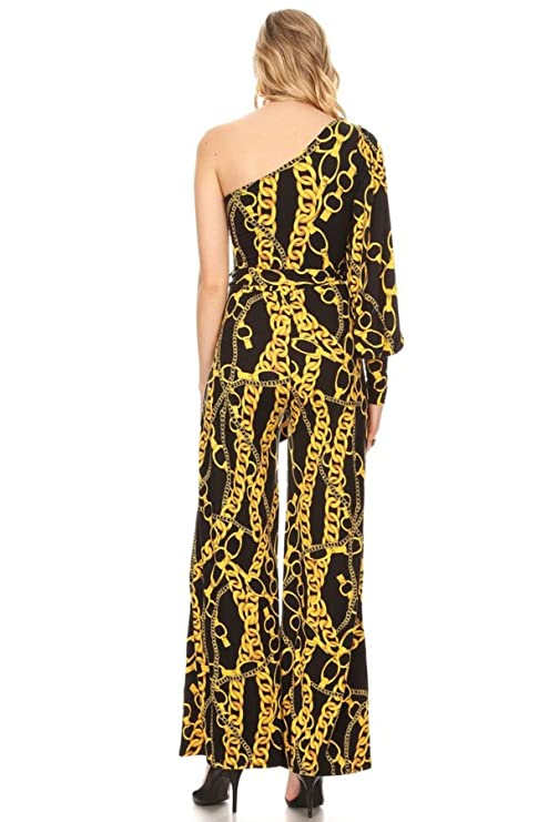 3695b97906 Amazon.com  Madelyn Rose Black   Gold Jumpsuit