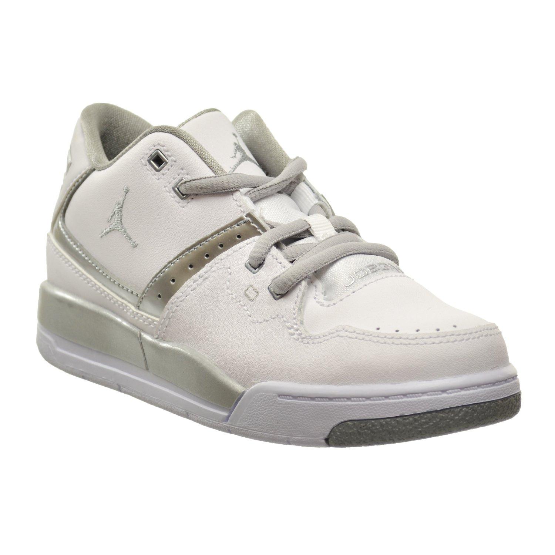 ba9700fd62f Amazon.com | Jordan Flight 23 BP Little Kids Shoes White/Metallic Silver  317822-100 | Sneakers