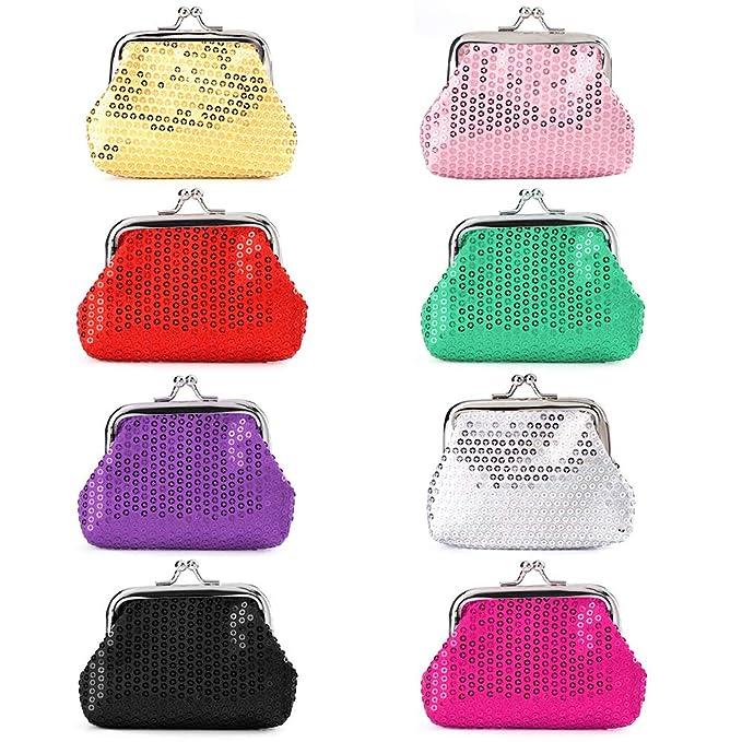 Amazon.com: Soleeebee - Bolsas de lentejuelas para mujer, 8 ...