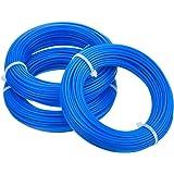 3 Piezas 1,65 mm Hilo de Desbrozadora Redondo Cable de Recortadora Carrete de Reemplazo para Desbrozadora de Hierba Podadera, 15 m