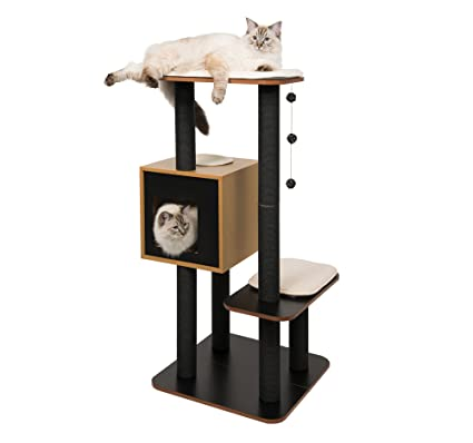 Amazon Com Vesper Cat Furniture Black V High Base Pet Supplies