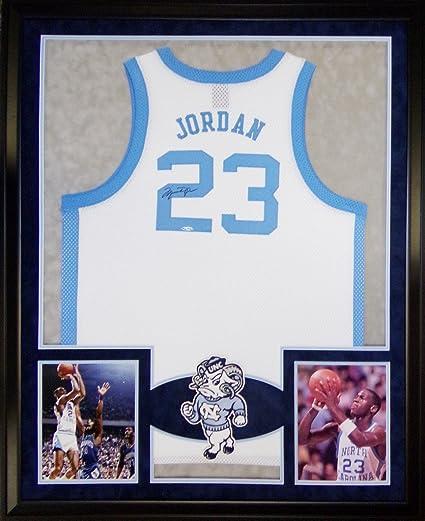 Michael Jordan Framed Jersey Signed UDA COA Upper Deck UNC North ...