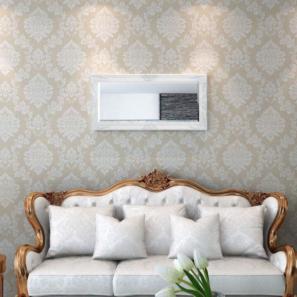 vidaXL Miroir Mural Style Baroque Blanc Miroir Chambre Salle Bain D/écoration