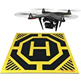 XL Drone and Quadcopter Landing Pad 22-inch by 22-inch - Highly Visible Design, Protect Your Investment With a Soft Landing Surface Made of Eco-Friendly Rubber and Waterproof Cloth by Sunfyre Tek