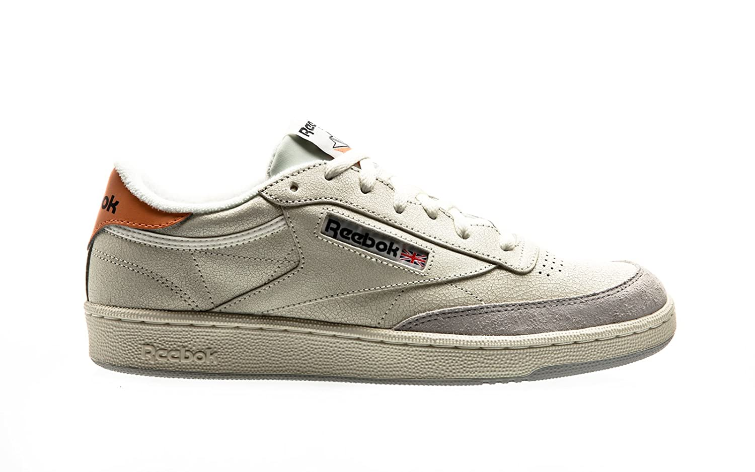 Reebok Club C85 FT Beige Grey Orange BS9749