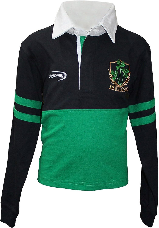 Lansdowne Esmeralda Azul Marino Irlanda Trébol L/S infantil Camiseta de rugby (6-12 meses a 11-12 Años) 6-12 meses: Amazon.es: Ropa y accesorios