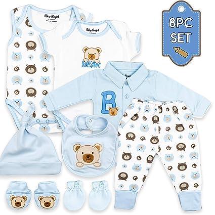 Amazon.com: Bebé brillante recién nacido 0 a 3 meses ropa ...