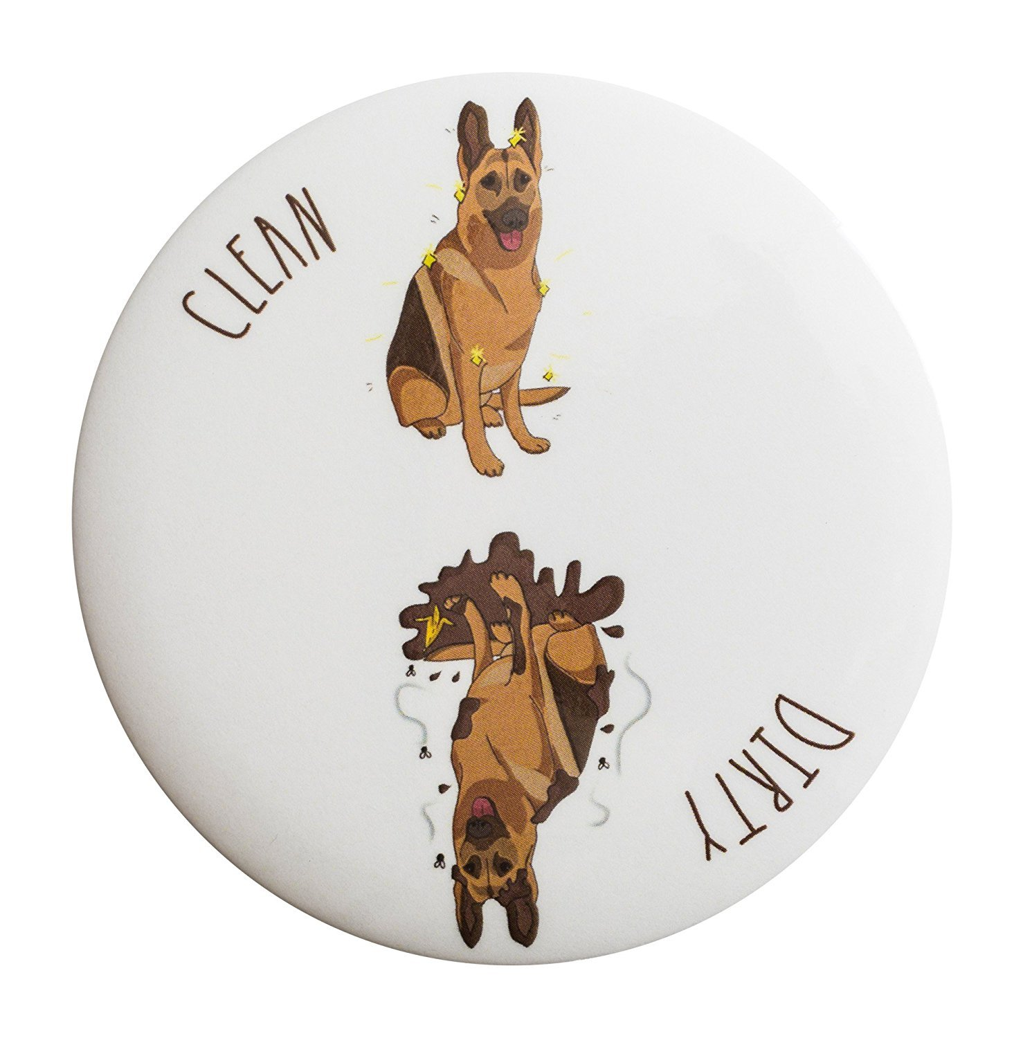 Sutter Signs Clean Dirty Dog Dishwasher Magnet (German Shepherd)