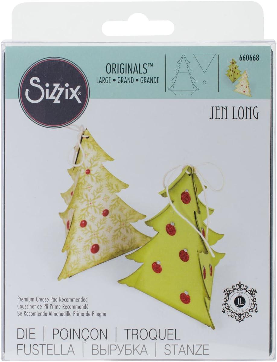 Sizzix Ellison Europe 660668 Originals Die Caja, árbol de Navidad de Jen Long: Amazon.es: Hogar
