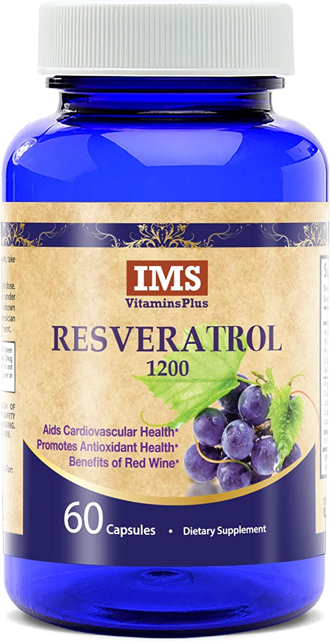 Amazon Com Resveratrol 1200mg Supplement Natural Max Strength
