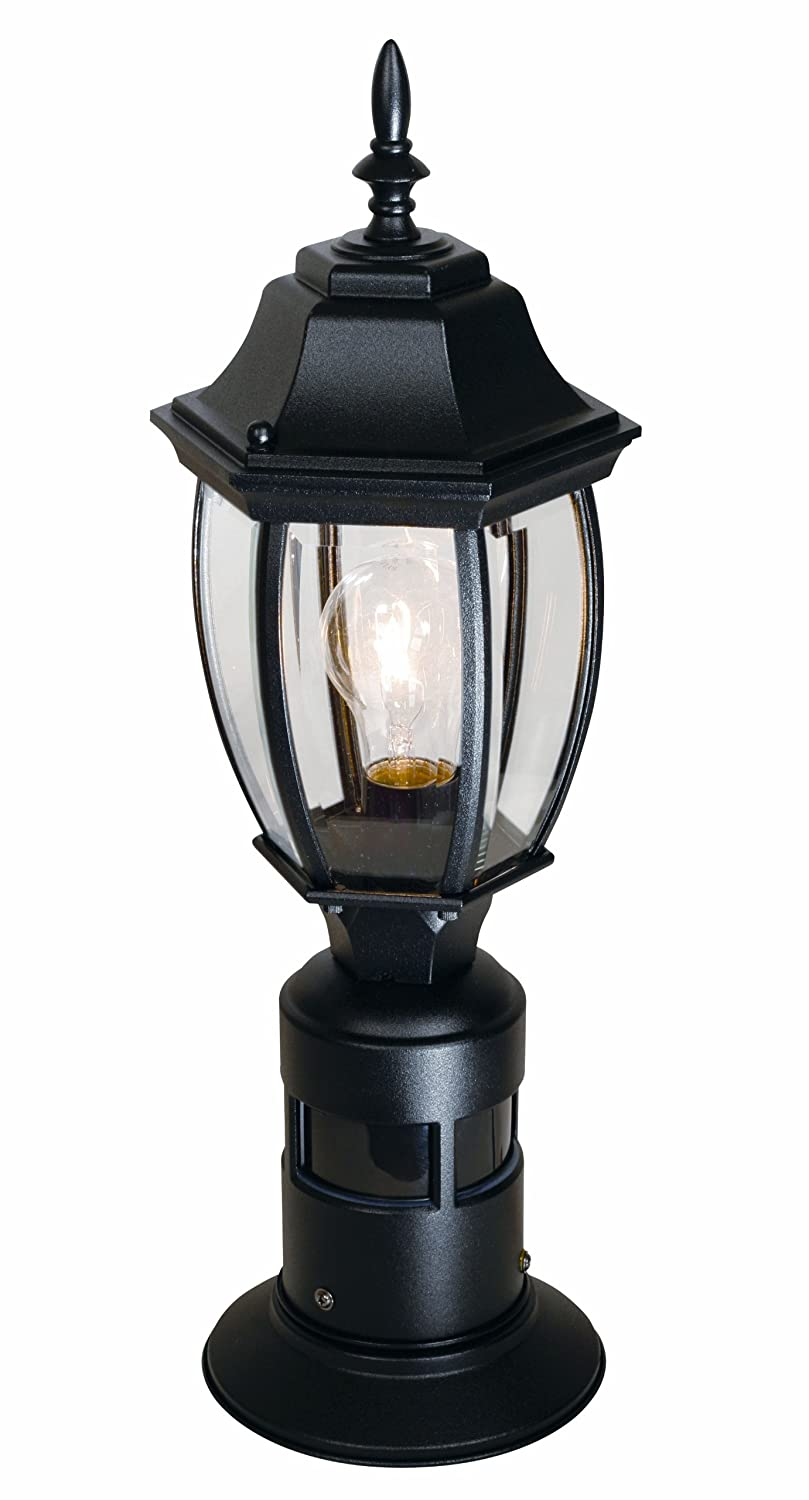 Heathzenith sl 4392 bk 360 degree motion activated decorative post heathzenith sl 4392 bk 360 degree motion activated decorative post light black outdoor post lights amazon aloadofball Gallery