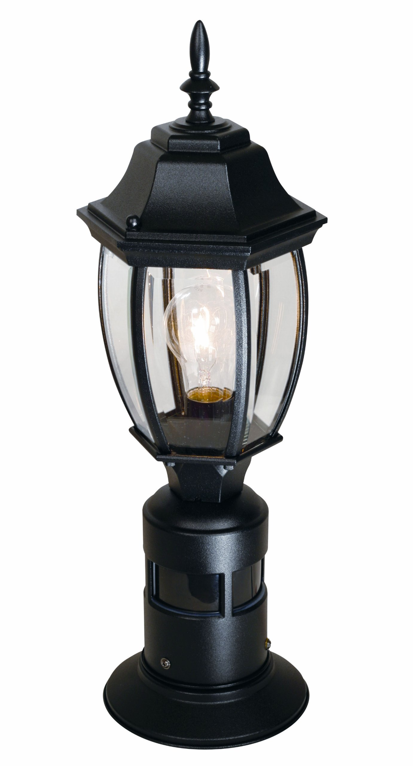 Heath/Zenith SL-4392-BK 360-Degree Motion-Activated Decorative Post Light, Black