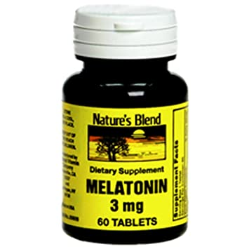 Image Unavailable. Image not available for. Color: Natures Blend Melatonin 3 mg ...