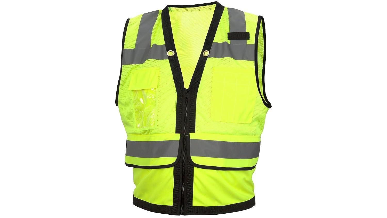 Polyester Lime Large Pyramex Safety RVZ2810L Rvz28 Series Hi-Vis Class 2 Safety Vest