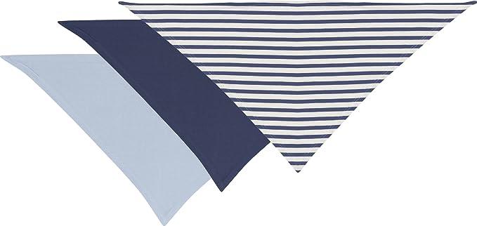 Playshoes - Foulard mixte enfant Set of 3 Bandana Bibs, Neckerchief - Bleu  (blue 3e0390a656e
