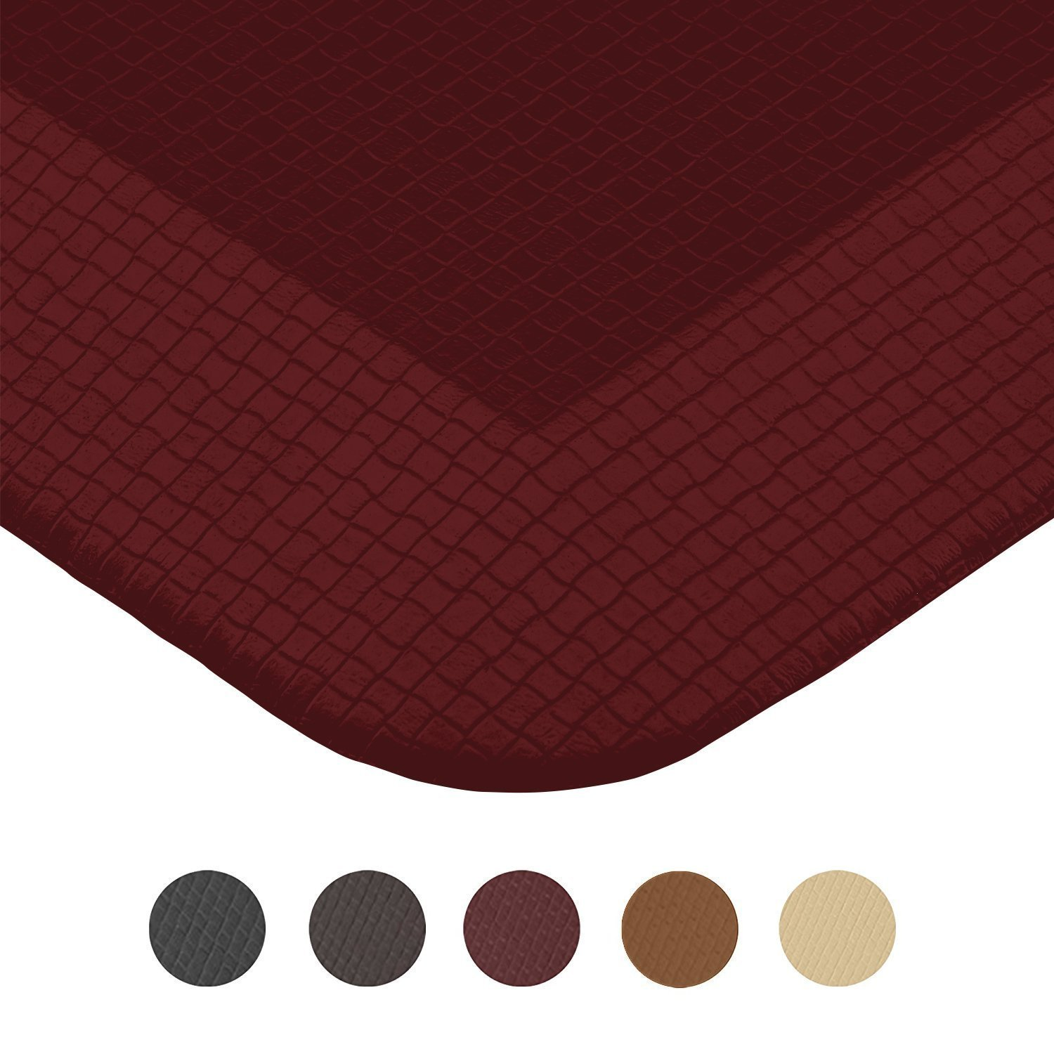 Royal Anti-Fatigue Comfort Mat - 20 in x 39 in x 3/4 in - Ergonomic Multi Surface, Non-Slip - Waterproof All-Purpose Luxurious Comfort - For Kitchen, Bathroom or Workstations - Burgundy by Royal (Image #6)