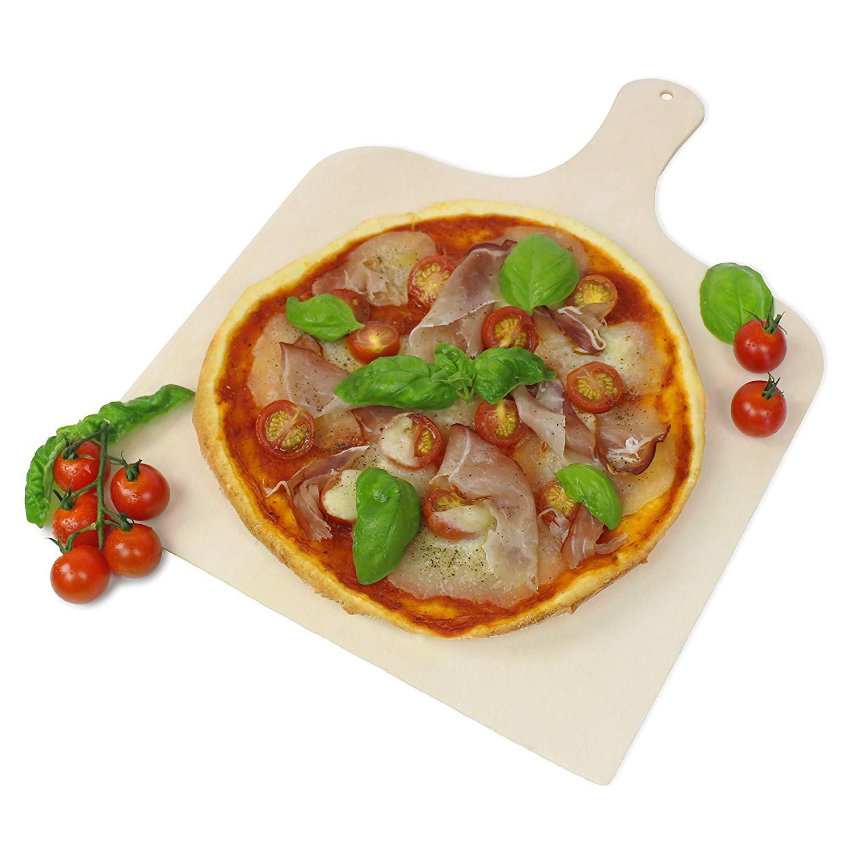 #benehacks Paleta para Pizza Spatula–También se Puede Utilizar como Horno Deslizante & Pan Pala–Madera de Pino (38x 30x 0,5cm)
