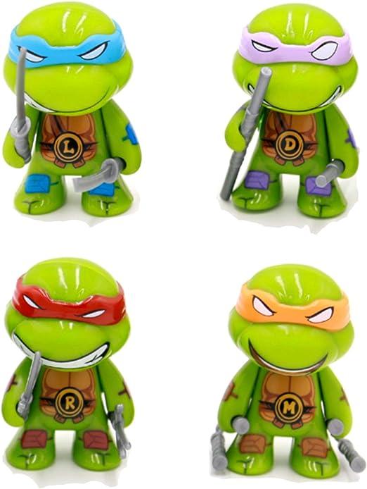 6X 2/'/' TMNT Ninjas in Training Leonardo /& Michelangelo Ninja Turtles Figures Toy