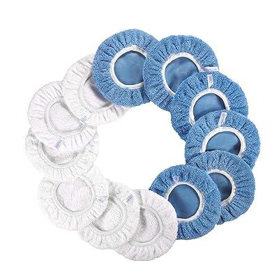 9 Inch & 10 Inch Car Polisher Bonnet, Waxers Bonnet Set for Most Car Polishers For 9 Inch & 10 Inch Car Polisher (Cotton+Coral Fleece)(6Pcs for Each/Pack of 12Pcs): Automotive