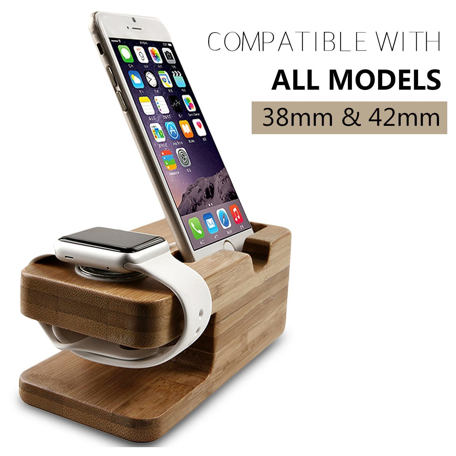 stand holder for pin com dock iphone charging in station desk wooden wood amazon bamboo