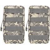 2-Pack Molle Pouches - Tactical Compact Water-resistant EDC Pouch