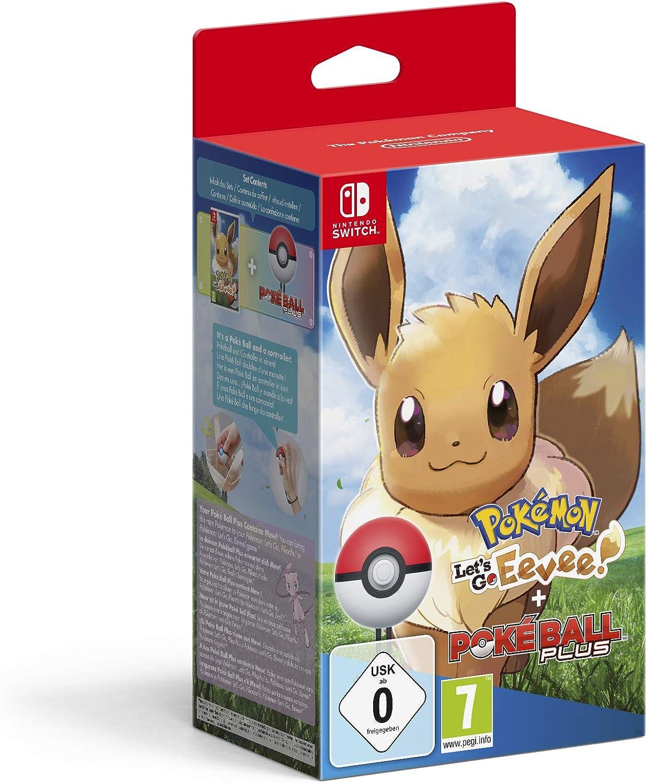 Pokémon: Lets Go, Eevee! + Poké Ball Plus - Bundle Limited - Nintendo Switch [Importación italiana]: Amazon.es: Videojuegos