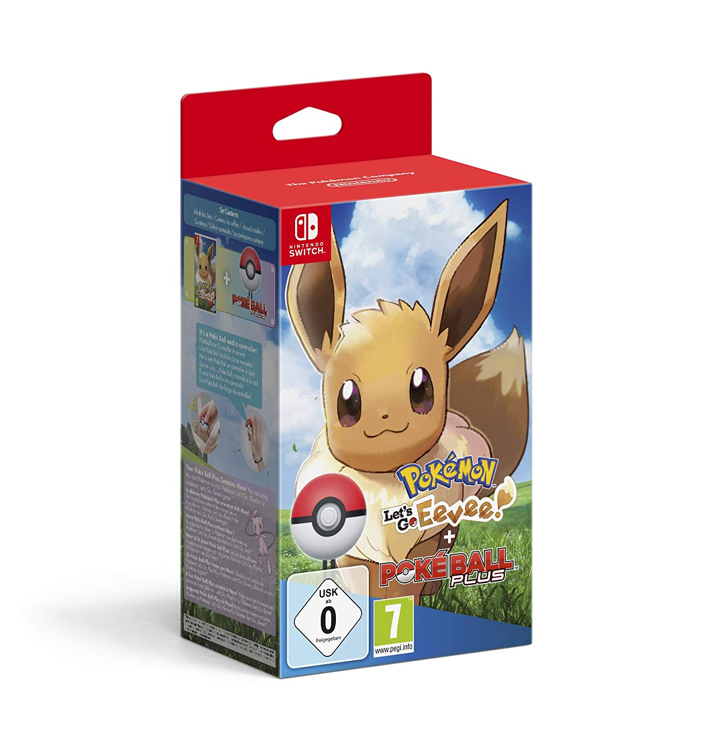 Pokémon: Lets Go, Eevee! + Poké Ball Plus - Bundle Limited ...