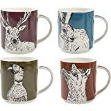 Creative Tops Into The Wild Stacking Mugs, Multi Coloured, 4-Piece