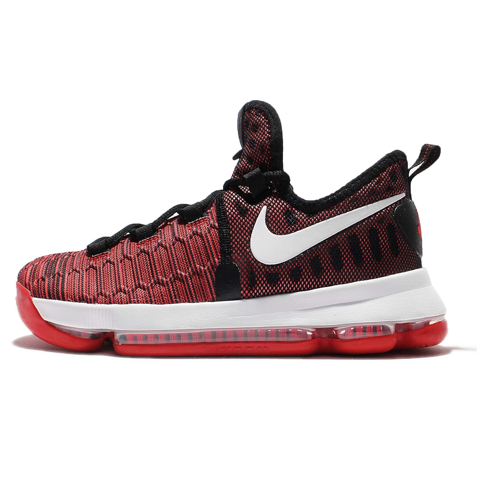 Nike Kids Zoom KD 9 GS, HARD WORK-UNIVERSITY RED/WHITE-BLACK, Youth Size 6 by NIKE