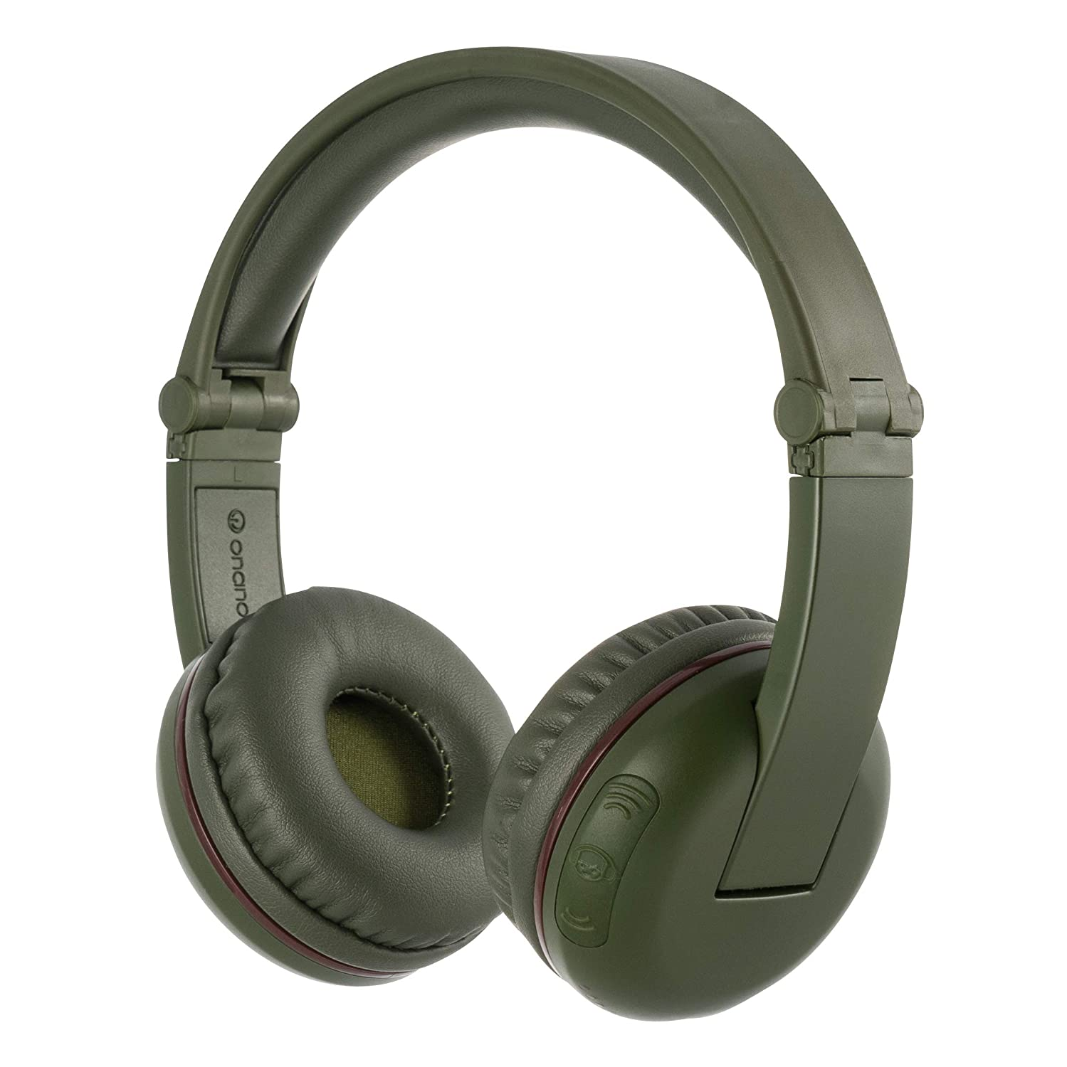 ONANOFF BuddyPhones Play, Wireless Bluetooth Volume-Limiting Kids Headphones, 14-Hour Battery Life, 4 Volume Settings of 75, 85, 94dB and StudyMode, Includes Backup Cable for Sharing, Green