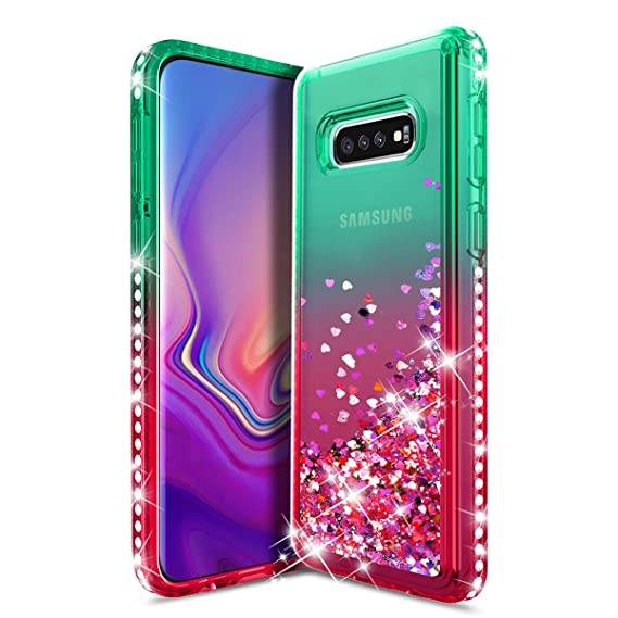 brand new 0c2ca 141af Samsung Galaxy S10E Case,Galaxy S10 E Cell Phone Case,Galaxy S 10E  Case,Durable Cute Glitter Bling Liquid Quicksand Sparkle Diamond Shockproof  ...