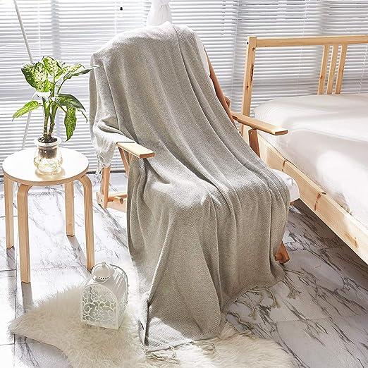 QWWSHL Cubierta de la Manta del sofá/Manta del Ocio - algodón ...
