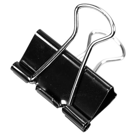 100 pinzas clip negras de oficina de 32mm para encuadernación y para sujetar