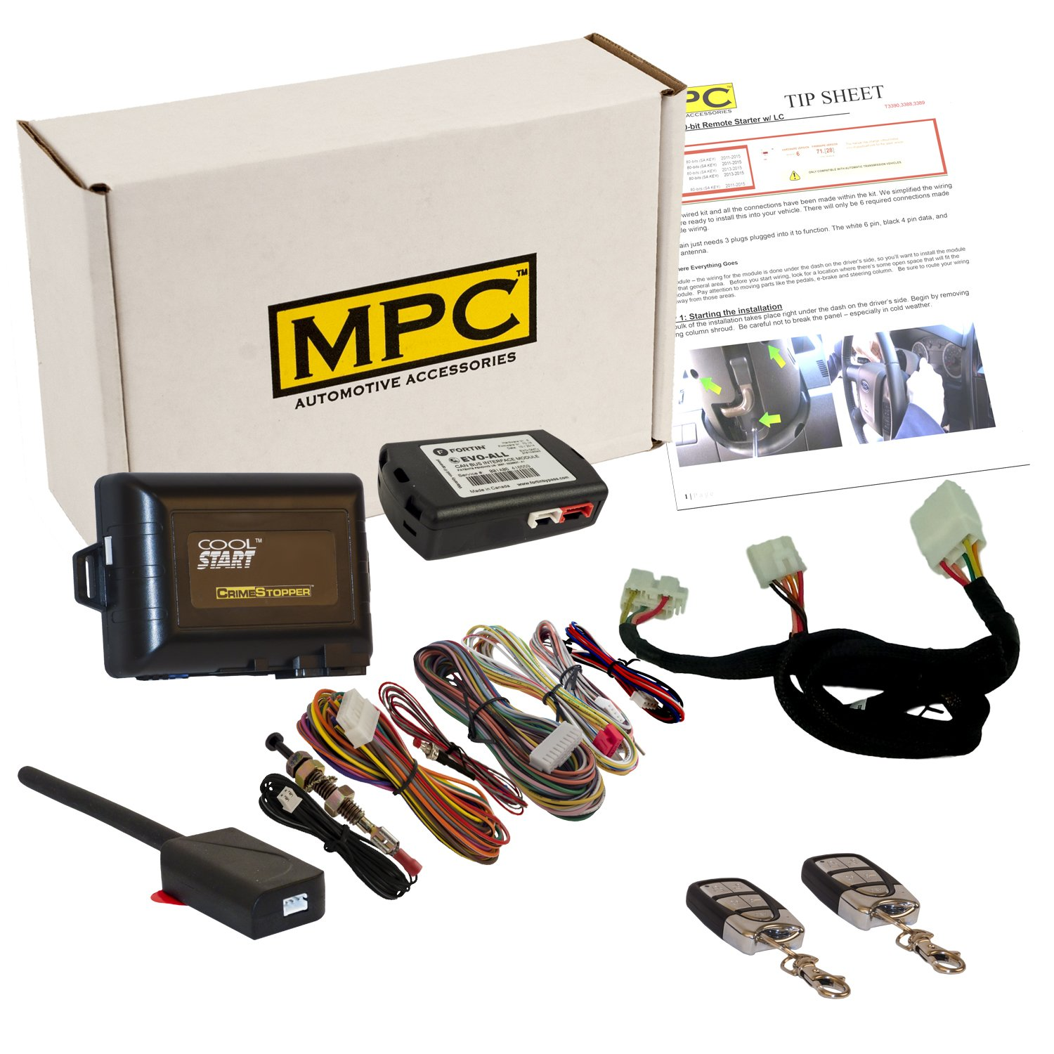 Amazon.com: Complete Remote Start Kit with Keyless Entry For 2014 ...