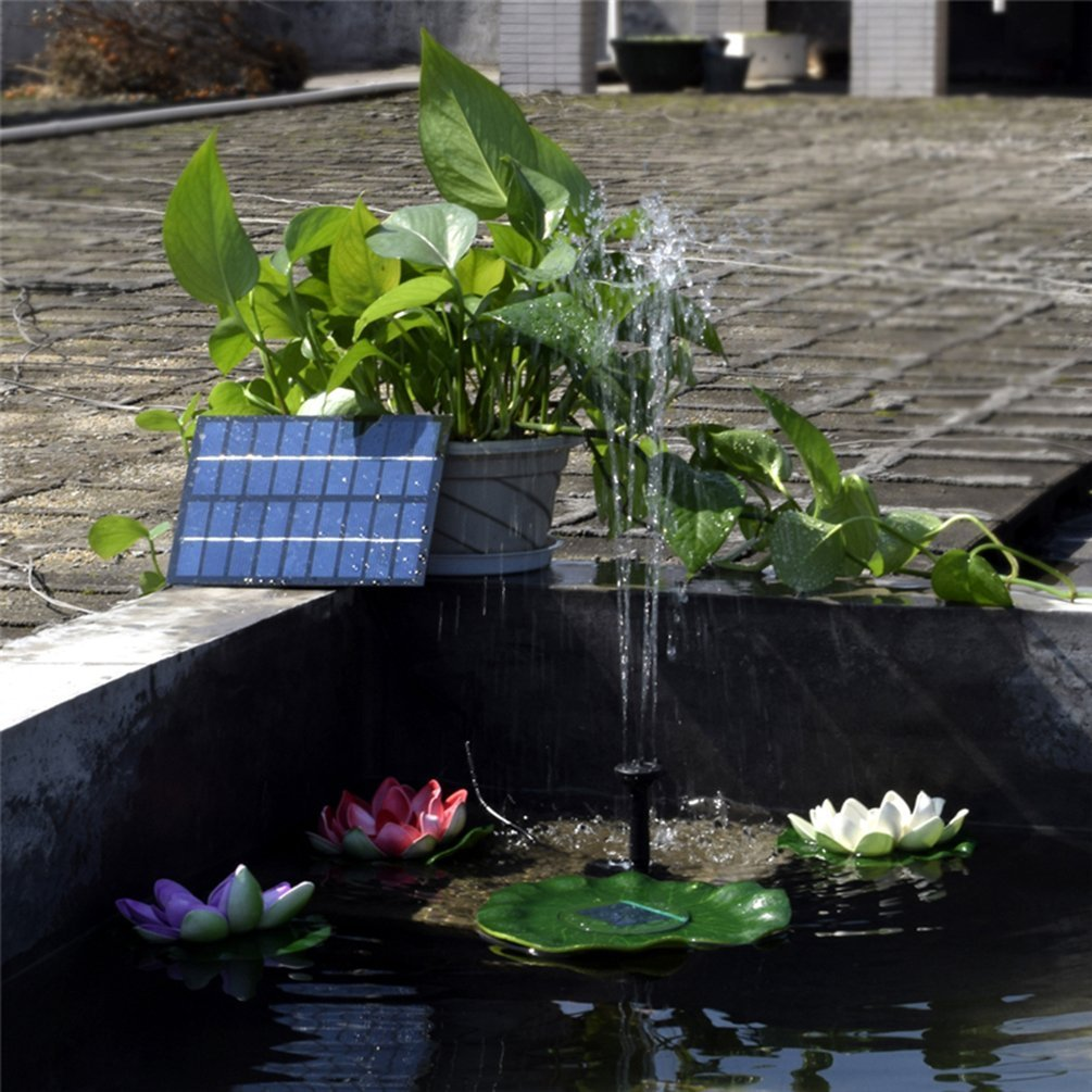 MADETEC Solar Fountain Pump for Birdbath,1.8W Solar Water Fountain Kit for Garden and Pond