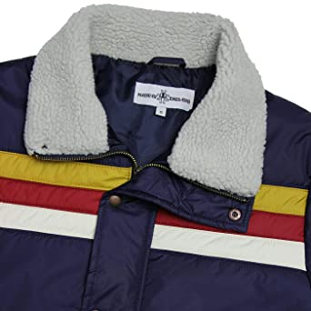 NEW MADCAP ENGLAND MENS EDGE RETRO 70s 80s 90s SKI PADDED QUILTED JACKET NAVY