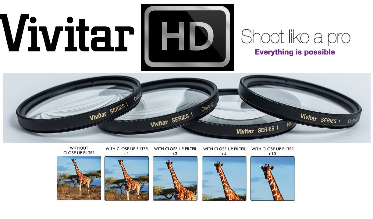 4-Pc Close-Up Set +1+2+4+10 For Day6 Plot Watcher Pro Time Lapse Camera TLC-200 - Vivitar