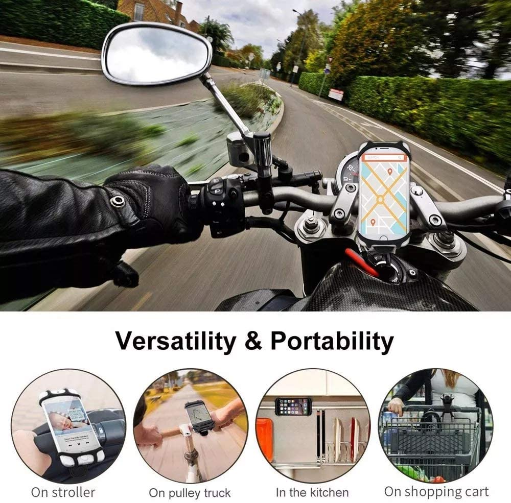 Cycling Bike Bicycle Stem Frame Handlebar Cell Phone Holder Bracket Anti Shake Heavy Duty Silicone Mount for Motorcycle Giosio Universal Bike Phone Mount for Any Smart Phone Treadmill