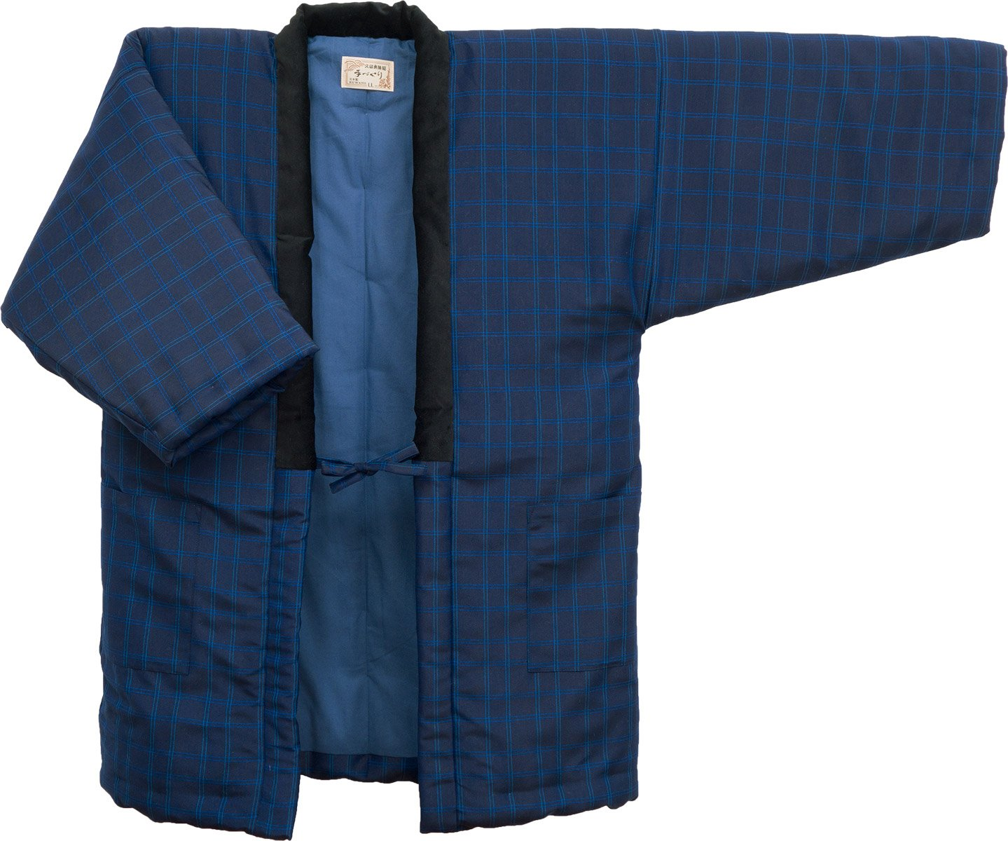 HANTEN (Cotton jacket made in Japan Kimono-style) Japanese clothes X-Large Size Men's (X-Large, 188) by WATANOSATO