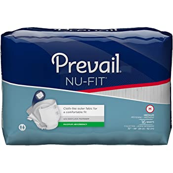 Prevail Nu-FIT Maximum Absorbency Incontinence Briefs, Medium, 96-Count