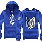 Shingeki No Kyojin Attack On Titan survey corps wing logo cosplay costume zipper hoodie with hat