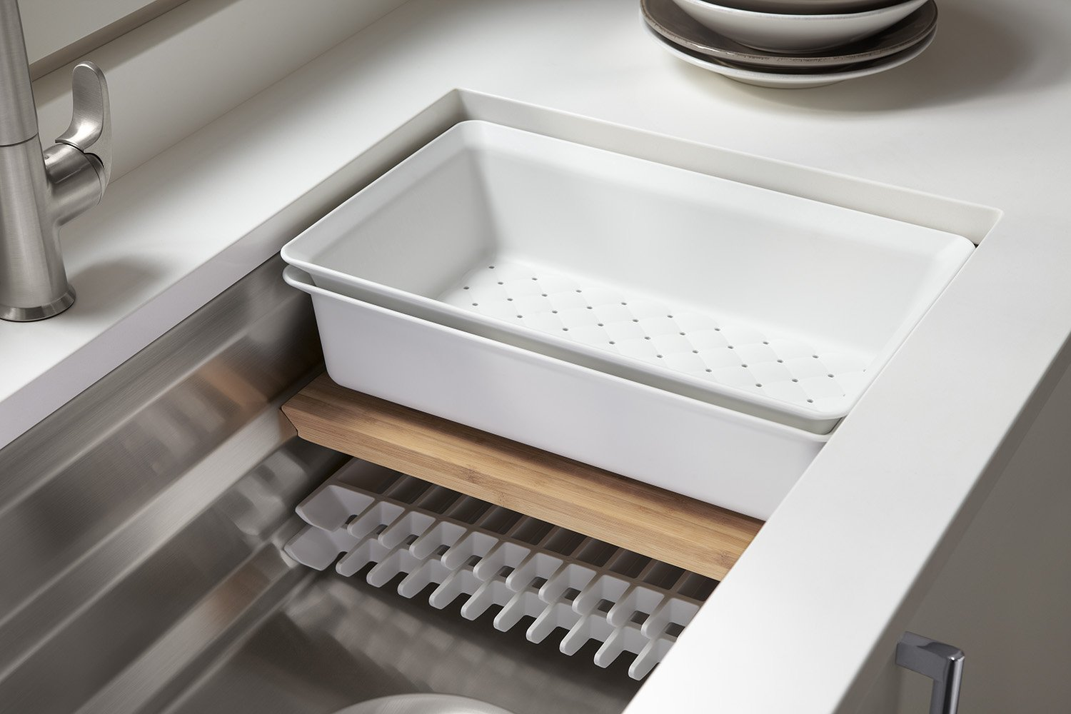 KOHLER Prolific 33 inch Workstation Stainless Steel Single Bowl Kitchen Sink with included Accessories, 11 inches deep, 18 gauge, Undermount installation K-5540-NA by Kohler (Image #6)