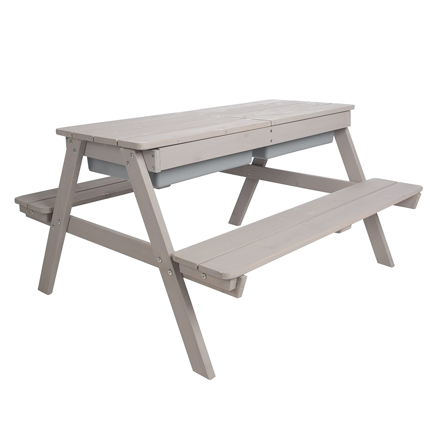 Roba Children S Outdoor Play For 4 Chairs Mud Table Wooden Table